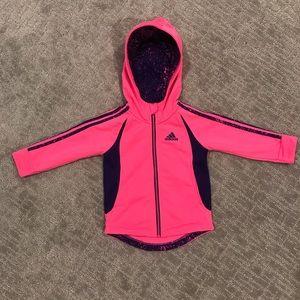 Adidas Hoodie Full Zip - Pink - Toddler 18 Months